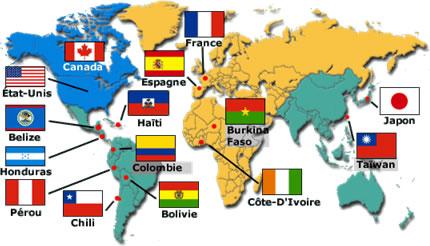 Les missions des Viateurs dans le monde entier