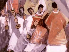 Célébration de l'eucharistie