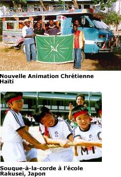 Jeunes du Japon et d'Haïti