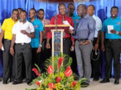 Soirée‐hommage à l'auditorium du collège Canado‐haïtien que dirigent les Frères du Sacré‐ Coeur à Port‐au‐Prince