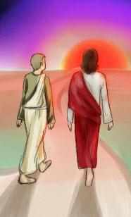 Jésus et disciple