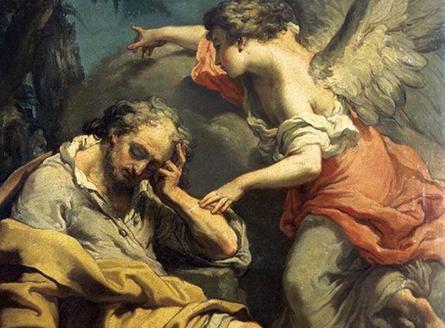 Visite de l'ange à Joseph